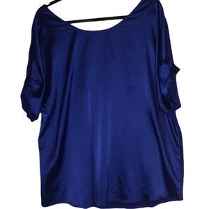 Plus size satin tops bundle pink and blue
